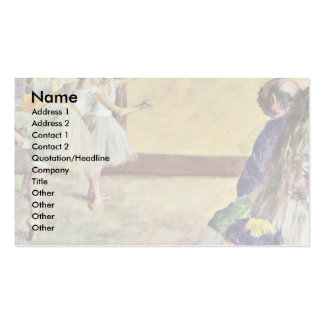 During The Dance Classes: Madame Cardinal Business Card Template