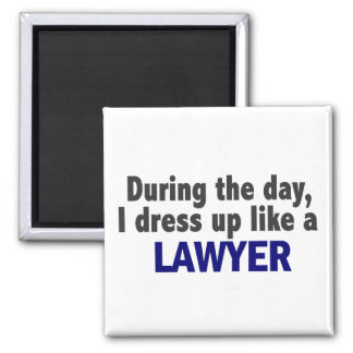 During The Day I Dress Up Like A Lawyer Magnets