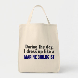 During The Day I Dress Up Like A Marine Biologist Canvas Bag
