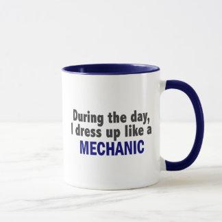 During The Day I Dress Up Like A Mechanic Mug