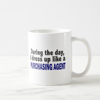 During The Day I Dress Up Like A Purchasing Agent Mugs