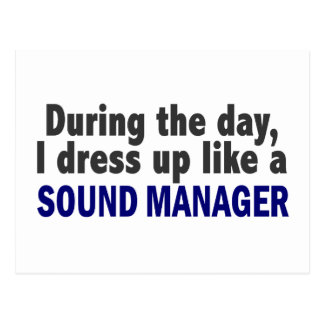 During The Day I Dress Up Like A Sound Manager Postcard