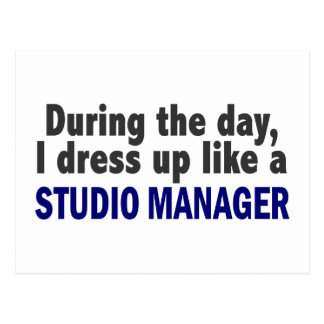 During The Day I Dress Up Like A Studio Manager Postcard