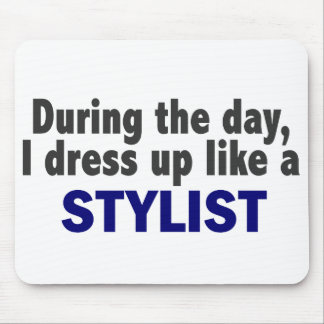 During The Day I Dress Up Like A Stylist Mousepad