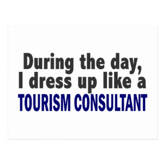 During The Day I Dress Up Like A Tourism Consultan Postcard