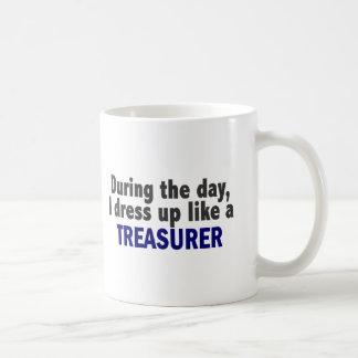 During The Day I Dress Up Like A Treasurer Coffee Mug