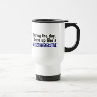 During The Day I Dress Up Like Marketing Executive Stainless Steel Travel Mug