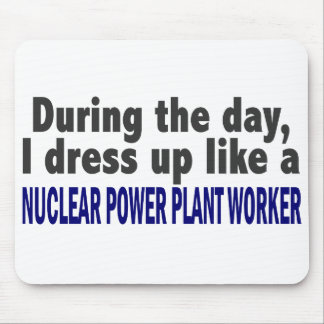 During The Day Nuclear Power Plant Worker Mousepad