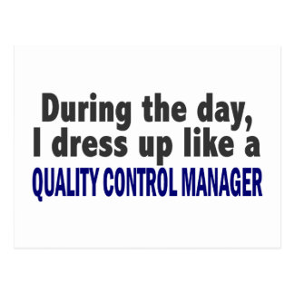 During The Day Quality Control Manager Postcard