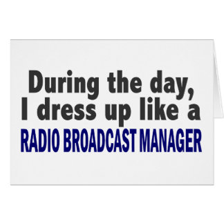 During The Day Radio Broadcast Manager Card