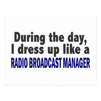 During The Day Radio Broadcast Manager Postcard