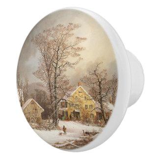 Durrie Americana Farmhouse Snowy Day Knob