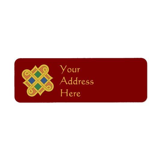 Durrow Knotwork 2016 Return Address Label