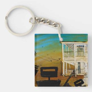 Dusk and Guns Single-Sided Square Acrylic Key Ring