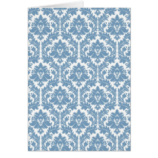 Dusk Blue Damask pattern Card