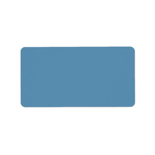 Dusk Blue Trend Colour Customised Template Blank Address Label