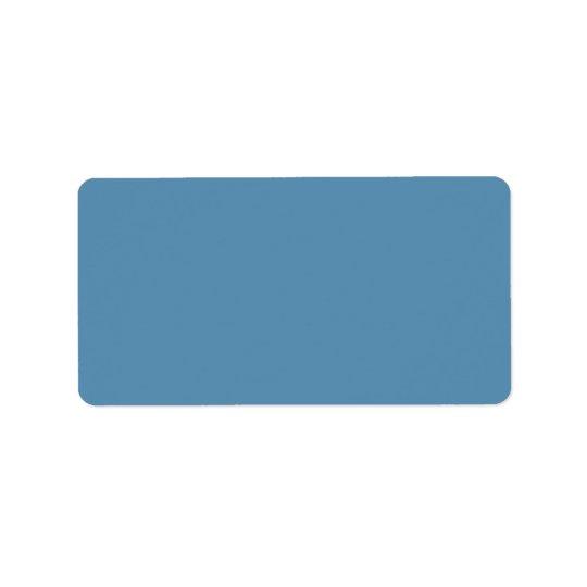 Dusk Blue Trend Colour Customised Template Blank Label