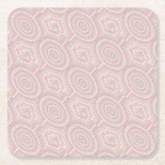 Dusk Corroboree Square Paper Coaster