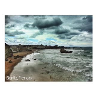 """Dusk descends on Biarritz"" Postcard"
