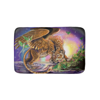 Dusk Hunter Flying Cat Bath Mat