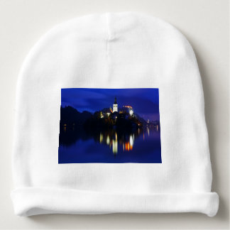 Dusk over Lake Bled Baby Beanie
