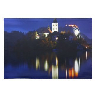 Dusk over Lake Bled Placemat