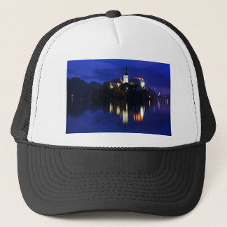 Dusk over Lake Bled Trucker Hat