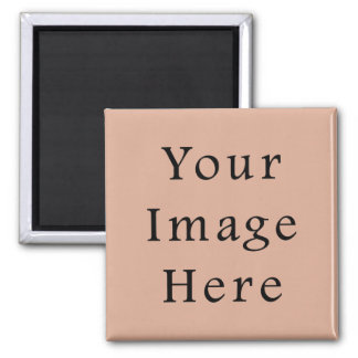 Dusk Peach Pink Color Trend Blank Template Square Magnet