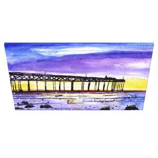 Dusk Pier Canvas Print