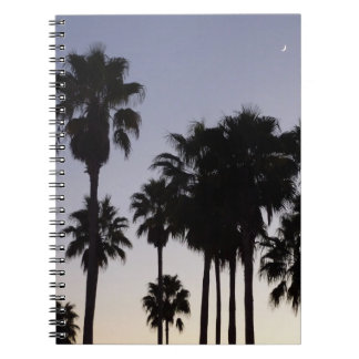 Dusk with Palm Trees Tropical Scene Notebook