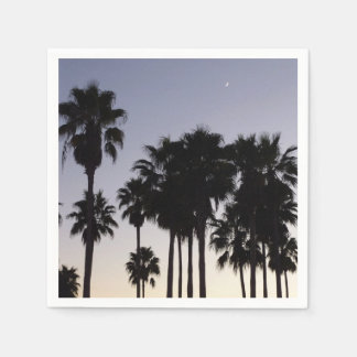 Dusk with Palm Trees Tropical Scene Paper Serviettes