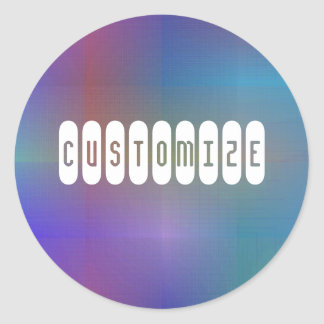 Dusky Color I - Template Classic Round Sticker