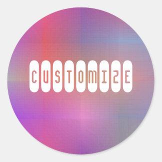 Dusky Color III - Template Classic Round Sticker