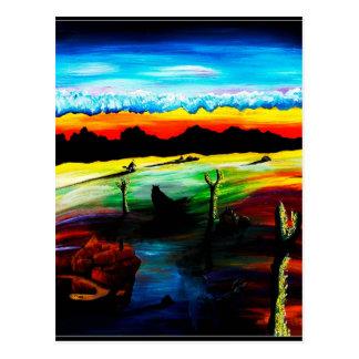 Dusky Desert Shadows Postcard