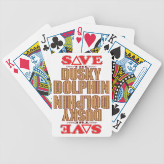 Dusky Dolphin Save Bicycle Playing Cards