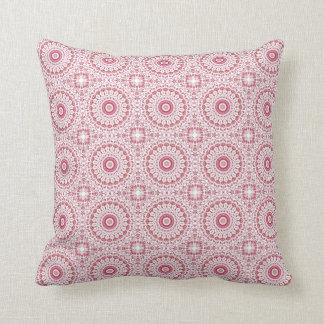 Dusky Pink Floral Mandala Cushion