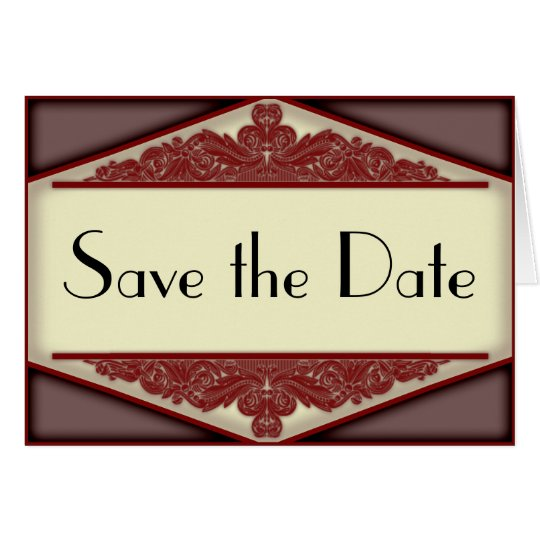 Dusky Pink Vintage, save the date card