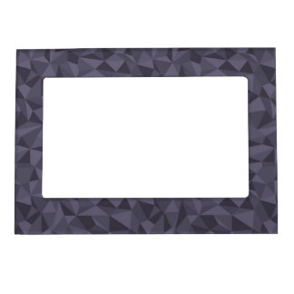 Dusky Purple Mosaic Abstract Geometric Pattern Magnetic Frame