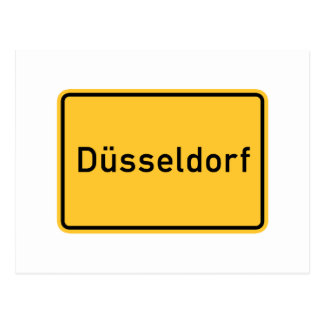 Dusseldorf, Germany Road Sign Postcard