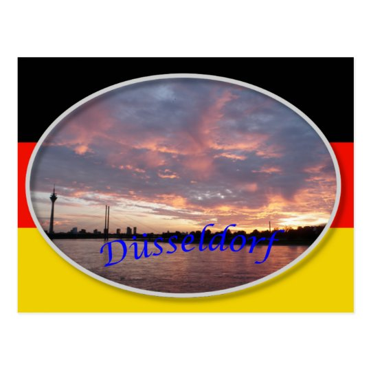 Dusseldorf Sunset Postcard