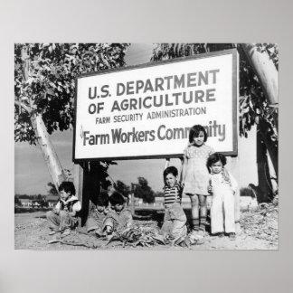 Dust Bowl Children Poster