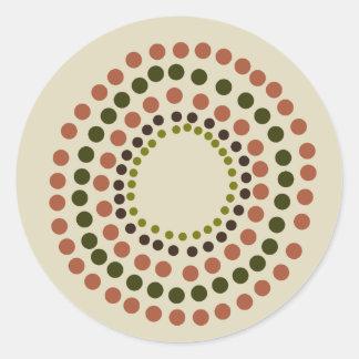 DUST dots Round Sticker