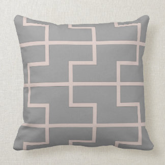 Dust pink lattice cushion