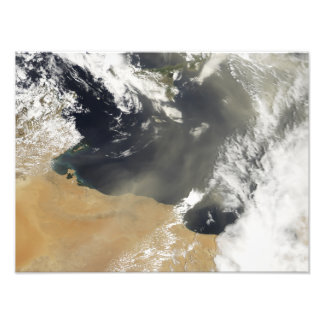 Dust plumes blowing off the north African coast Art Photo