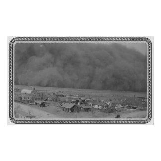 Dust Storm in Approching Rolla Kansas in 1935 Poster