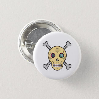 Dust Sugar skull and bones 3 Cm Round Badge