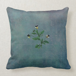 Dusted Turquoise and Wild Violas Cushion