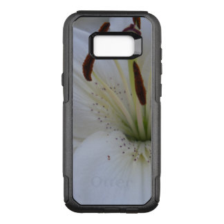 Dusted White Lily OtterBox Commuter Samsung Galaxy S8+ Case