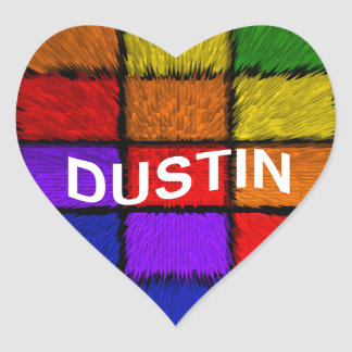 DUSTIN HEART STICKER