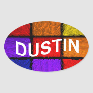 DUSTIN OVAL STICKER